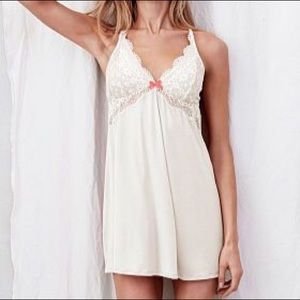 Body by Victoria Crochet Trim Babydoll Slip